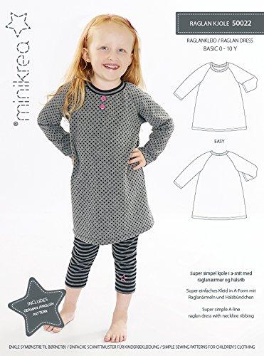 MAGAM-Stoffe Raglan Kleid Schnittmuster Babys und Kinder inkl. Aufnäher Enno