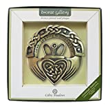 -Bronze Gallery Collection -A Claddagh Design -Wall Plaque -A Perfect Gift