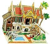 DIVISTAR Casa de muñecas en miniatura con muebles, kit de construcción de casa de muñecas proyecto de artesanía, escala 1:24, decoración de habitación creativa regalo de juguete (hotel de Tailandia)