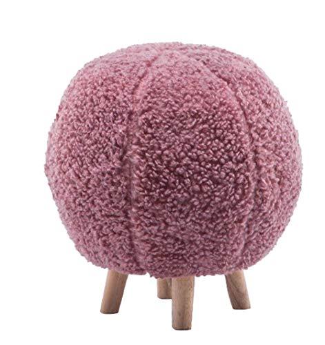 YIQIFEI Kreative Massivholz Nordic Spherical abnehmbare und waschbare Designermöbel Stoff Mode Dressing, Pink
