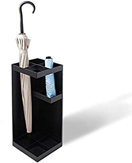Yxsd Umbrella Stand Umbrella Holder Rack for Indoor Home Office Entryway Decor with Drip Tray, Metal Modern Design Black