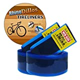 """Rhinodillos 27 inch Bicycle Tire Liner for Road Bikes, 27"""" X 1 1/8 – 1 1/4"""", no Package RED Pair (2 Liners)"""