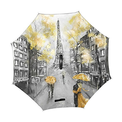 Funny Seamless Pattern With Comic Cartoon Round Reverse Umbrella Double Layer Inverted Umbrellas For Car Rain Outdoor With C-Shaped Handle Customized