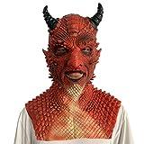 Diablo Belial Latex Mask Red Demon Devil Satan Paw Gloves Halloween Cosplay Costume Props (Mask)