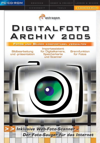 Digitalfoto-Archiv 2005, CD-ROM Fotos und Bilder komfortabel verwalten. Für Windows 98/Me/NT/2000/XP