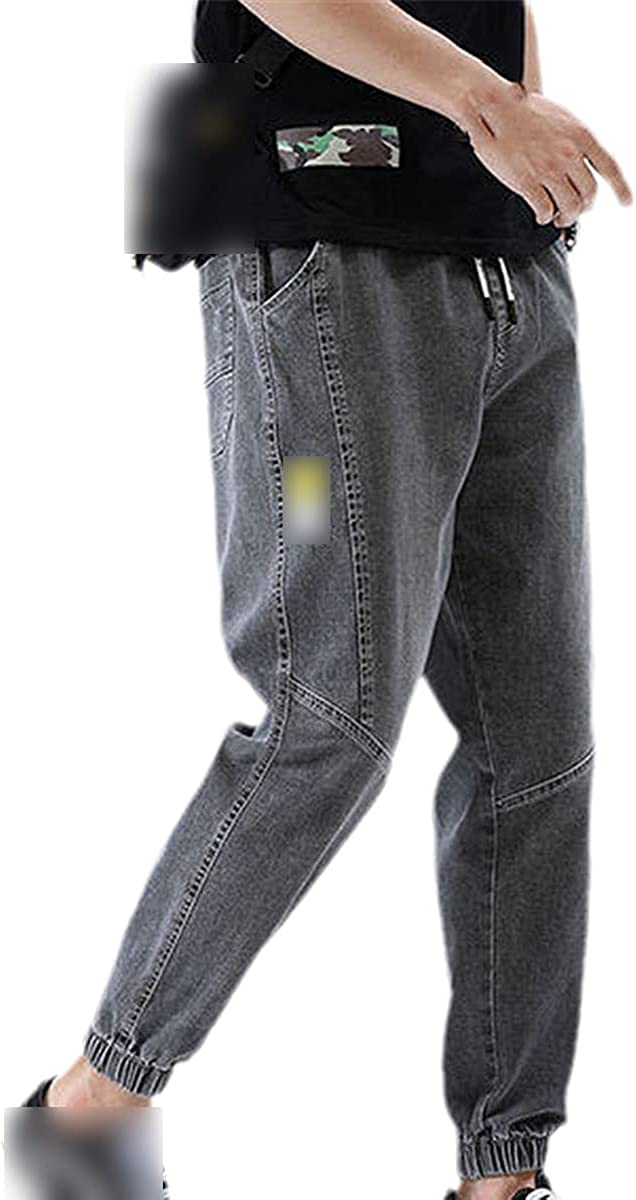 Men's Jeans Loose Fashion Harem Cropped Trousers All-Match Korean Casual Pants