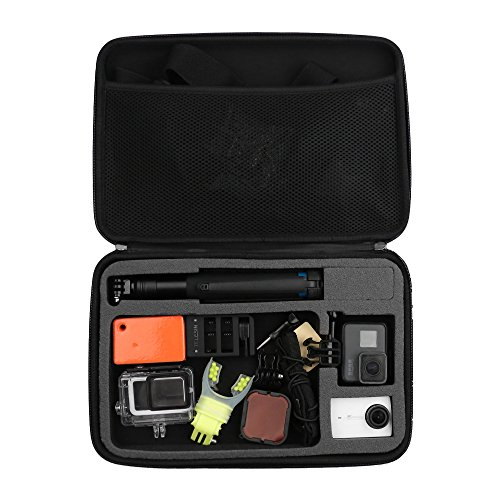 TELESIN Large Carrying Case Travel Case Storage Bag for GoPro Hero 2018, Hero 7 Black, Hero 6, Hero 5 Black, Hero 4, Hero 3+, Session 4 Session 5 Fusion, Xiaoyi, Polariod, Campark Camera Accessories