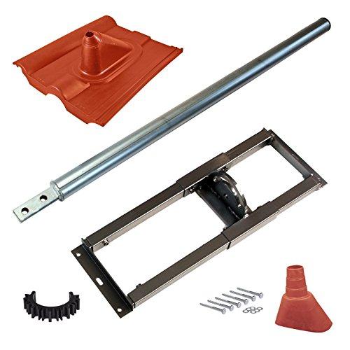 HB-DIGITAL Set: Dachsparrenhalter Ø 60mm 100cm +...