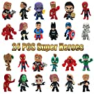 Action Figures, Anime Figures, MOYEE 24 PCS Super Hero Adventures Play Set - Mini PVC Web Warriors Figures Toys Dolls for Kids Ages 3 and Up, Christmas, Birthday Gift & Home, Car, Decoration