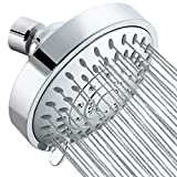 Tibbers High Pressure Shower Head,5 Settings Showerhead with Adjustable Metal Swivel Ball...