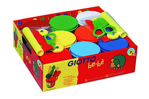 Giotto Be-Bè Súper Pasta Para Jugar 220 G . Schoolpack 8 Uds.+Acces.