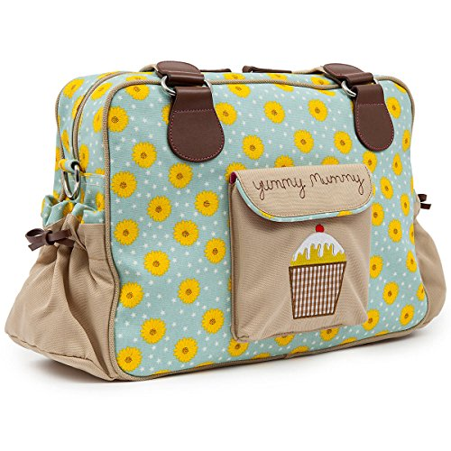 Pink Lining Yummy Mummy Diaper Bag, Sunflowers