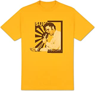 Sun Records Elvis On The Mic Adult T-Shirt