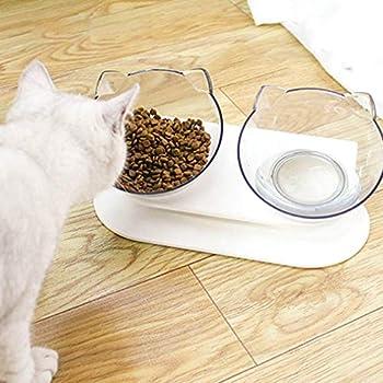 Sebastianee Gamelle pour Chat avec Support surélevé, pour Chats et Chiens de Petite Taille (2)
