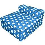 G&H - Colchón de espuma viscoelástica, impermeable, para adultos y niños, plegable, para silla o tumbona, cama supletoria, diseño de estrellas