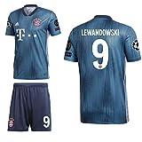 adidas FCB FC Bayern München 3rd Set Champions League 2018 2019 Herren Lewandowski 9 CL Logos Gr S