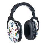 PROTEAR Kids SNR - Protección auditiva para niños, protección auditiva, protección auditiva ajustable, protección auditiva para niños, fuegos artificiales, deberes (unicornio)