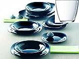 Servizio piatti x 6 persone carine luminarc colore nero con 6 bicchieri omaggio 24 pezzi