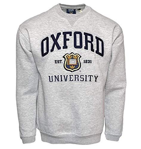 Oxford University OU201 - Sudadera Deportiva Unisex, Color Gris Gris Gris X-Small