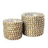 Gina Da Juego de 2 cestas redondas de algas marinas