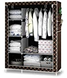 MINNAS CENTRAL 4.1 Cabinet Easy Installation Folding Wardrobe Cupboard Almirah Storage Rack(Multicolour)