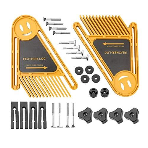 AAGOOD-1Set Featherboard Feder Loc Brett Holzverarbeitung Sicherheits-Holzbearbeitung Zubehör Werkzeug für die Holzbearbeitung