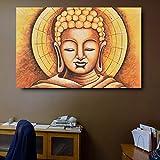 SQSHBBCDipinti ad Olio per Soggiorno Lord Buddha Dipinti murali Moderni complementi arredo casa Tela incorniciata Pittura Camera da Letto 70x105 cmSenzaCornice