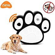 Fomei Harmless Ultrasonic Dog Bark Control Devices Waterproof Outdoor Anti Dog Bark Controller Bark Stop Repeller Silence Dog Training Repellent, Easy Hanging with 3 Mounting Modes(Dog paw-shaped)