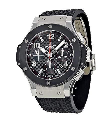 Hublot Big Bang - Reloj (Reloj de Pulsera, Masculino, Acero Inoxidable, Negro, Acero Inoxidable, Caucho, Negro)