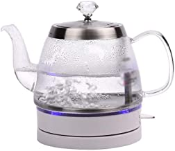 58SD Household Boiling Water Kettle Mini Glass Automatic Power Off Electric Kettle Transparent 1 Liter Electric teapot 58SD (Color : Clear, Size : Plug (UK))