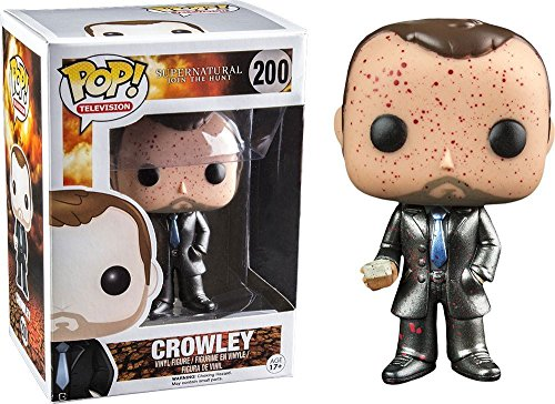 Funko - Figurine Supernatural - Crowley Metallic Exclu Pop 10cm - 0849803055677