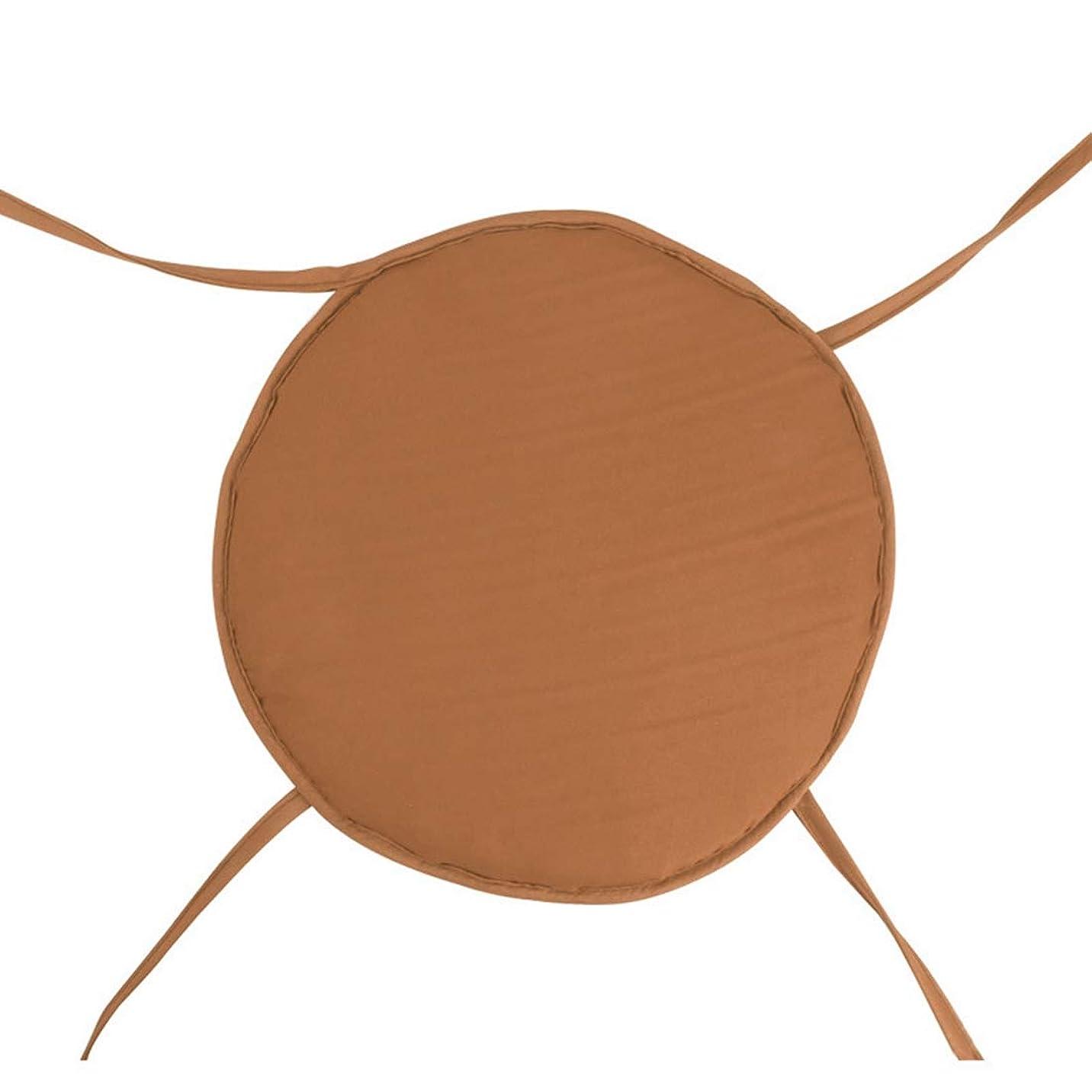 安全な写真を撮る作りますXianheng1 クッション 丸型 円形 ひも付き 座布団 椅子用 オフィスチェア 椅子クッション フロアクッション 椅子用クッション シートクッション いす用 子供用 滑り止めクッション チェア おしゃれ 一個 四個セット