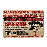 Felpudo antideslizante con diseño de punk, para el exterior de zapatos de estilo vintage, diseño de Manchester, 40 x 61 cm