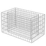 vidaXL Gabionen Hochbeet Verzinkter Stahl 90x50x50 cm Pflanzkorb Steinkorb