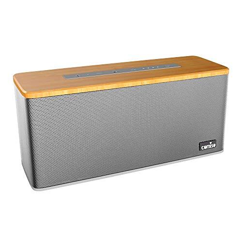 Tragbarer Bluetooth Lautsprecher, COMISO Mobiler Bluetooth 4.2 Lautsprecher Dual-Treiber Wireless Speaker mit reinem Bass 30W und Subwoofer eingebautem Mikrofon für Handys