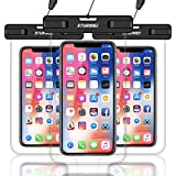 """STURME Waterproof Phone Pouch, Universal Waterproof Phone Case Drg Bag for iPhone Xs Max XR XS X 8 7 6S Plus Samsung Galaxy S10 S9 S8 Note 8 6 5 4 Pixel 3 XL 2 LG V20 Devices Up to 6.5"""""""