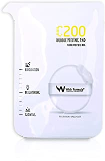 WISH FORMULA C200 Bubble Peeling Pad - Exfoliation + Acne Treatment + Vitamin C - For Acne, Aging Skin, Dark Spots