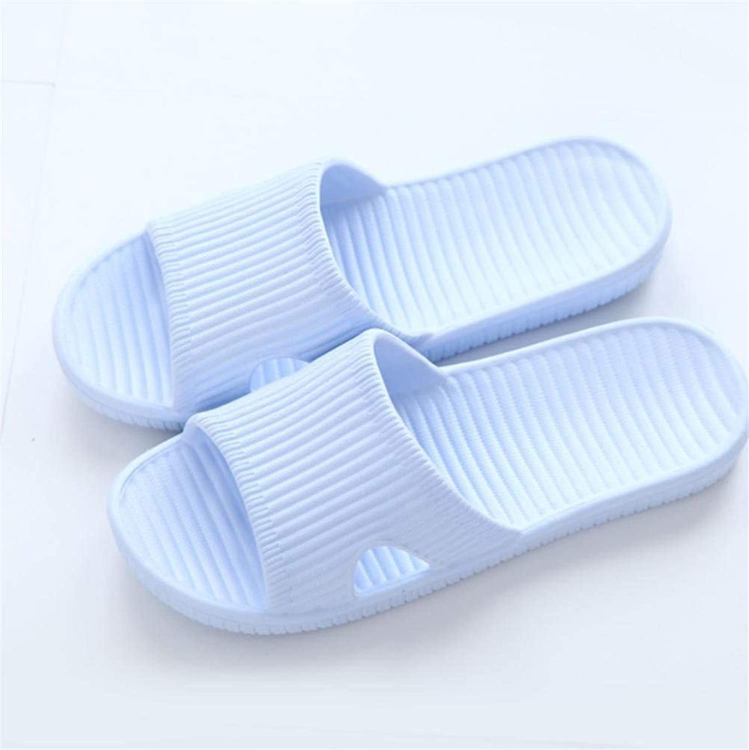 Lady Slippers Ladies Indoor Leisure Home Spa Slippers Casual Spring and Summer Light bluee Solid color Waterproof Non-Slip Slippers Size 40