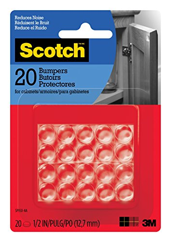 Scotch Bumpers, 20 Bumpers/Pack, Clear, 1/2 in (SP950-NA)