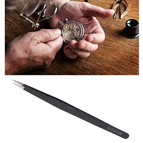 Pinzas de aleación, convenientes con cubierta de protección de puntas Pinzas de reparación de relojes para sujetar joyas para relojeros para sujetar piezas de relojes