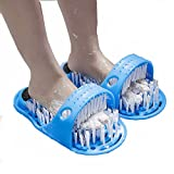 1 pair of foot cleaning brushes, shower foot scrubber, bath shoes, foot scrubber, shower hydro massager, slippers, foot scrubber, with non-slip suction cup