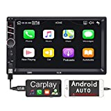 Binize 7 inch Touchscreen Apple Carplay and Android Auto(Android 9 below)/MP5 Player/Car Stereo Radio Receiver/Bluetooth/FM,Support Reversing Image Input/Steering Wheel Control/USB/Remote