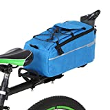 Lixada Bike Panniers Bike Trunk Bag Insulated Bag for Warm/Cool Items, Bicycle Rear Rack Storage Luggage Bicycle Seat Multifunctional Insulated Trunk Cooler Bag Shoulder Bag 11.4 6.3 6.7in (Blue)