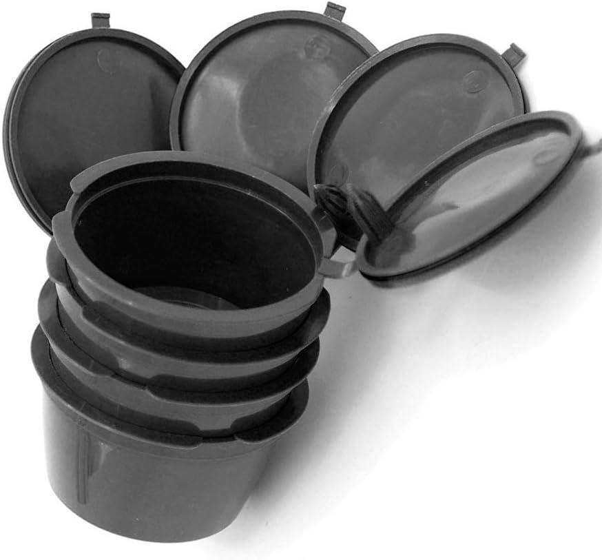 C/ápsulas de caf/é reutilizables SUNASQ juego de 4 filtros de caf/é compatible con m/áquinas de caf/é Dolce Gusto con 1 cuchara. reutilizable c/ápsula de pl/ástico recargable