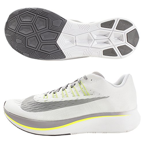 Nike Zoom Fly Mens Running Trainers 880848 Sneakers Shoes (UK 7.5 US 8.5 EU 42, White Gunsmoke Grey 101)