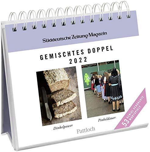 Gemischtes Doppel 2022: Wochenkalender zum Aufstellen, Tischkalender mit Spiralbindung und 53 Postkarten zum Heraustrennen