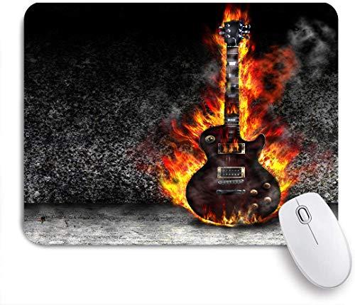 Marutuki Gaming Mouse Pad Rutschfeste Gummibasis,Die brennende Gitarre im alten Raum,für Computer Laptop Office Desk,240 x 200mm