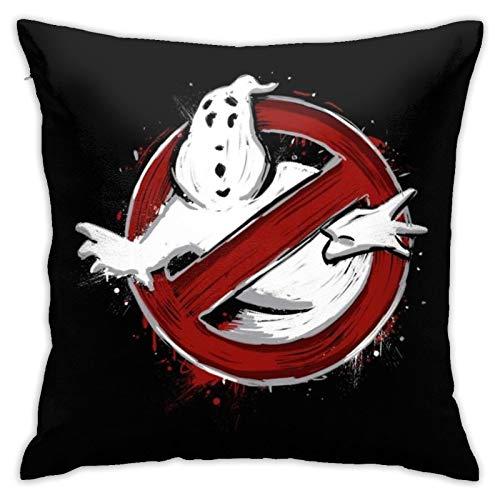 Funda de almohada decorativa de Héroes de la ciudad de Nueva York Ghostbusters, funda de almohada cuadrada de 45,7 x 45,7 cm