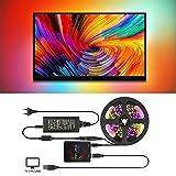 Kits de biais de rétroéclairage TV/PC Ambilight Usb Led avec boîte de lumière Dream Color Convient à tous les écrans plats LCD, applications Ambibox/Prismatik (3M with 8A Adapter)