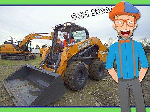 Skid Steer with Blippi - Construction Trucks for Kids